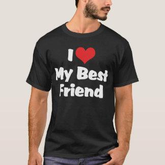 T-shirt J'aime le coeur mon meilleur ami - BFF