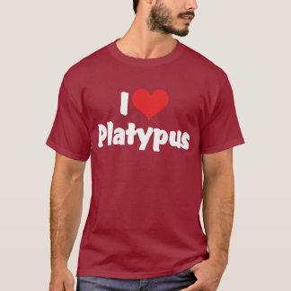 T-shirt J'aime le coeur mon ornithorynque