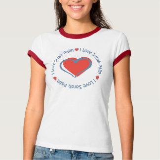 T-shirt J'aime le coeur Sarah Palin