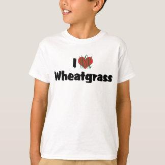 T-shirt J'aime le coeur Wheatgrass - la vie saine de