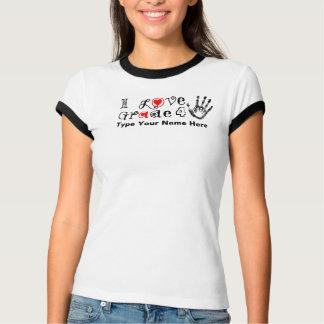 T-shirt J'aime le _de catégorie/contact de professeurs
