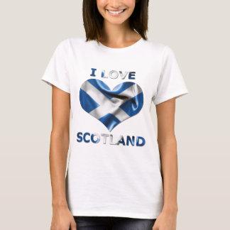T-shirt J'aime le drapeau de coeur de l'Ecosse