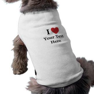T-shirt J'aime le manteau de chien de Personalisable -