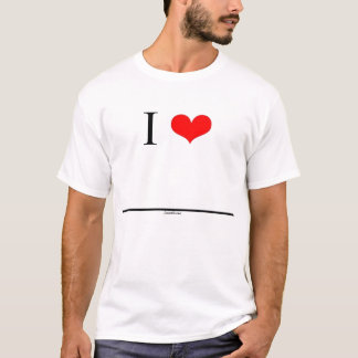 T-shirt J'aime (le nom d'insertion)