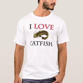T-shirt J'aime le poisson-chat
