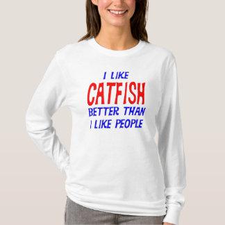 T-shirt J'aime le poisson-chat meilleur que j'aime le