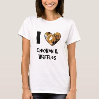 T-shirt J'aime le poulet et les gaufres