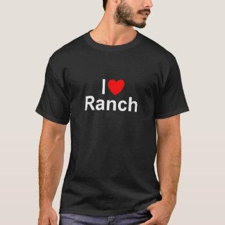 T-shirt J'aime le ranch (de coeur)