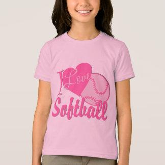 T-shirt J'aime le rose du base-ball