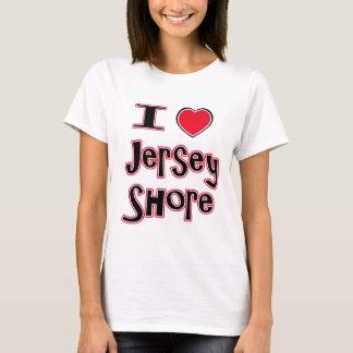 T-shirt J'aime le rouge de rivage de jersey