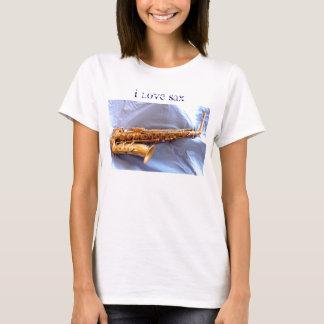 T-shirt J'aime le saxo (l'ophone)