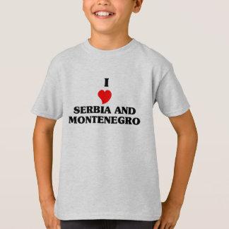 T-shirt J'aime le Serbie-et-Monténégro