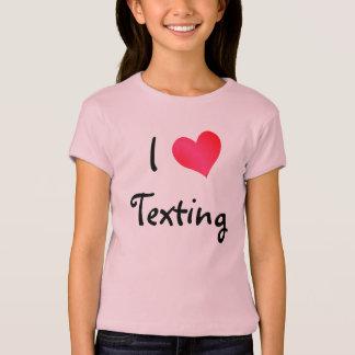 T-shirt J'aime le service de mini-messages