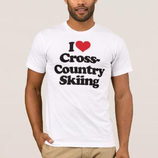 T-shirt J'aime le ski de pays croisé