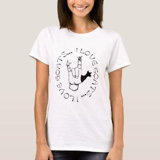 T-shirt J'aime le symbole de main de langue des signes