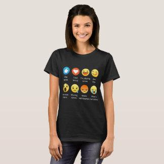T-shirt J'aime le tee - shirt de graphique d'émoticône