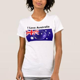 T-shirt J'aime le tee - shirt de l'Australie - drapeau