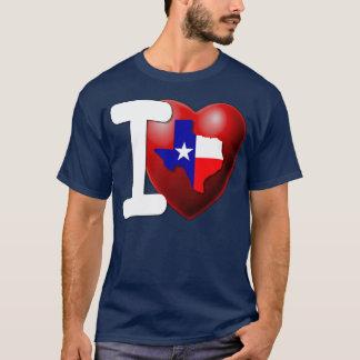 T-shirt J'aime le Texas - l'état solitaire d'étoile