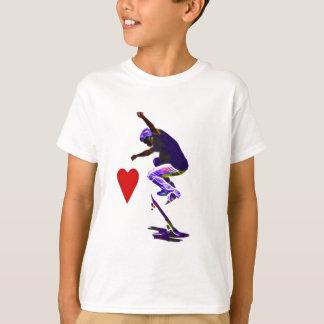 T-shirt J'aime le vecteur faisant de la planche à