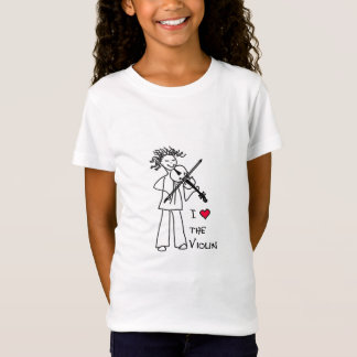 """T-Shirt """"J'aime le violon"""" pour le magasin de site de"""