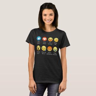 T-shirt J'aime l'émoticône de DANSE (emoji) (la police