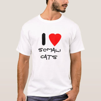 T-shirt J'aime les chats somaliens