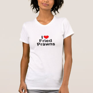 T-shirt J'aime les crevettes roses frites par coeur