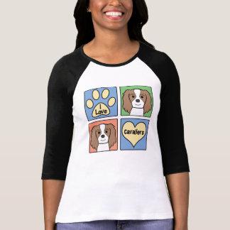 T-shirt J'aime les épagneuls cavaliers du Roi Charles