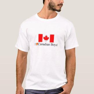 T-shirt J'aime les garçons canadiens !