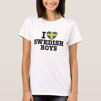 T-shirt J'aime les garçons suédois
