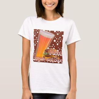 T-shirt J'aime les hamburgers et la bière Brewskies