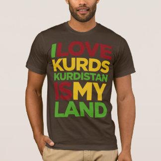 T-shirt J'aime les Kurdes et le Kurdistan