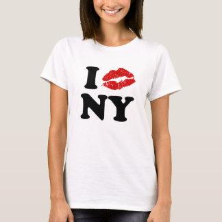 T-shirt J'aime les lèvres de baiser de rouge à lèvres