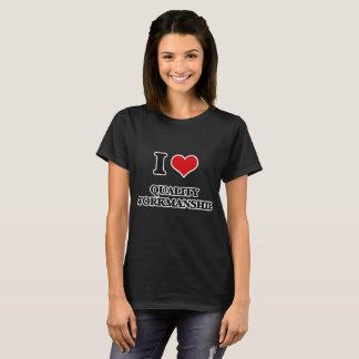 T-shirt J'aime l'exécution de qualité
