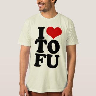 T-shirt J'aime l'humour végétalien drôle de tofu