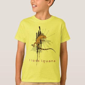 T-shirt J'aime l'iguane - jaune d'enfants
