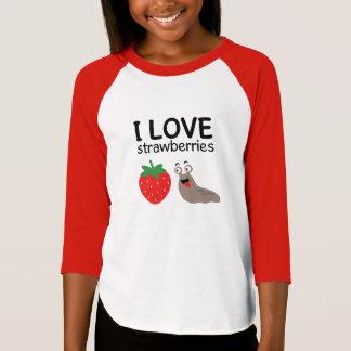 T-shirt J'aime l'illustration de fraises