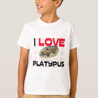 T-shirt J'aime l'ornithorynque