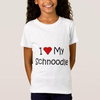 T-Shirt J'aime ma chemise de chien de Schnoodle