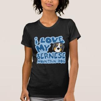 T-shirt J'aime ma chemise de dames Twofer de chien de