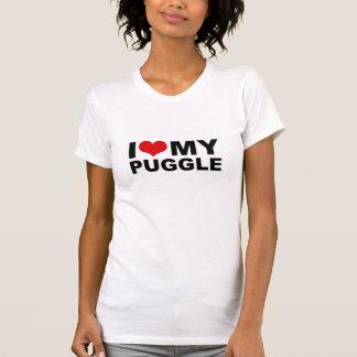 T-shirt J'aime MA chemise de Puggle
