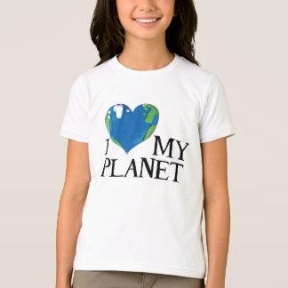 T-shirt J'aime ma chemise d'enfants de planète