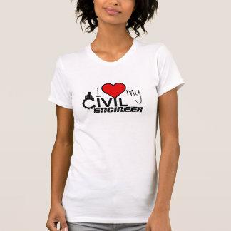 T-shirt j'aime ma chemise d'ingénieur