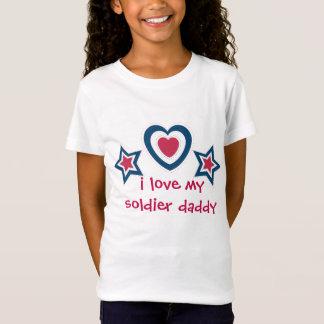 T-Shirt J'aime ma maman de papa de soldat - 4 juillet