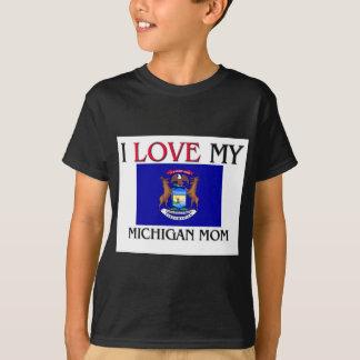 T-shirt J'aime ma maman du Michigan