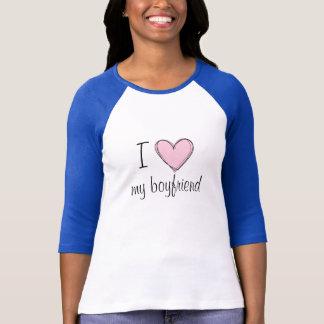 T-shirt J'aime ma pièce en t de base-ball d'ami