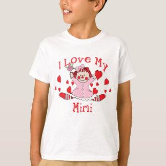 T-shirt J'aime ma poupée et coeurs de chiffon Mimi
