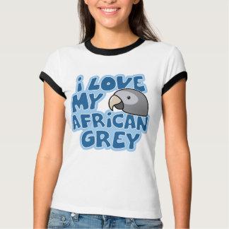 T-shirt J'aime ma sonnerie de dames de gris africain de