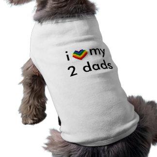 T-shirt j'aime mes 2 papas