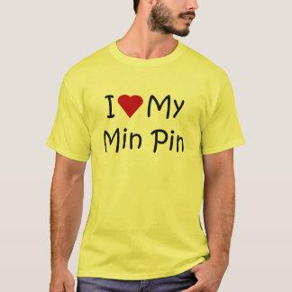 T-shirt J'aime mes cadeaux d'amant de race de chien de Pin
